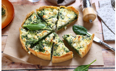 Spinat Feta Quiche